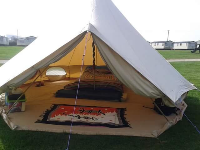 The bell tents come with zipped in groundsheets so you can be sealed up tight if itu0027s raining whilst having the option to unzip and enjoy the breeze on a ...  sc 1 st  Green Gathering & Bell Tent Hire - The Green Gathering